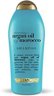 OGX Renewing + Argan Oil of Morocco Hydrating Hair Shampoo, Cold-Pressed Argan Oil to Help Moisturize, Soften & Strengthen Hair, Paraben-Free with Sulfate-Free Surfactants, 25.4 fl oz