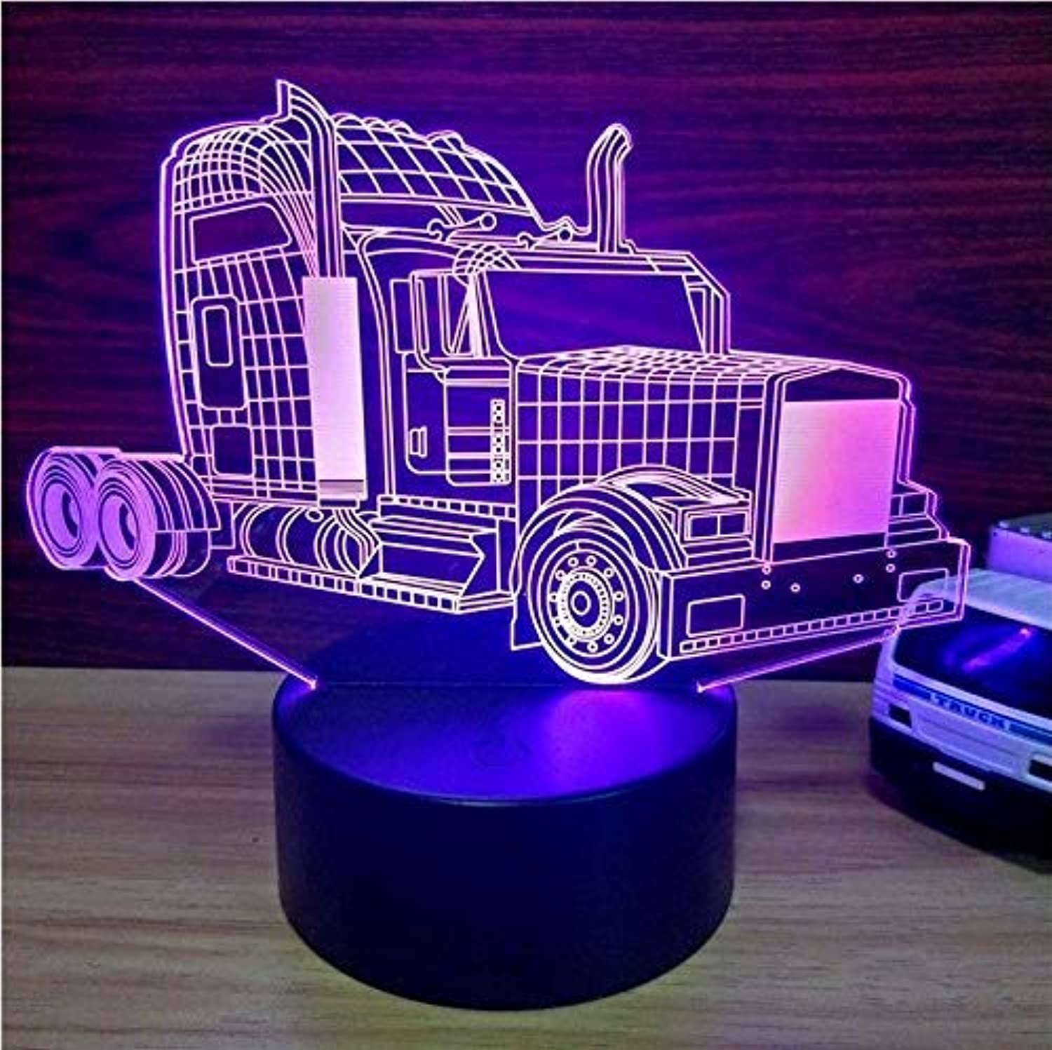 BMY Big Truc3D Illusion Table Lamp 7 colors Change Led Nightlight USB Bedroom Bedside Sleep Lighting Sports Fans Gifts Home Decor