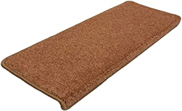 JIAJUAN Stair Carpet Treads Non-Slip Thick Soft Rubber Backing Floor Protector Mats Easy to Clean Home, 12 Mm, 2 Styles, (...