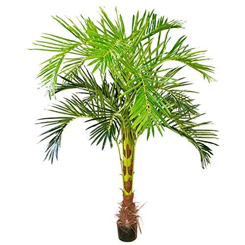 Decovego Künstliche Palme groß Kunstpalme Kunstpflanze Palme künstlich wie echt Plastikpflanze Arekapalme 180 cm hoch Balkon Deko Dekoration