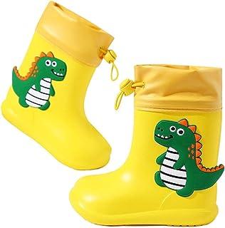 Stivali di Gomma Unisex-Bambini Impermeabili Saetta Rain Boots Antiscivolo Stivali da Pioggia per Ragazzi e Ragazze