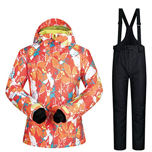 Somnrchun Sneeuwpak voor dames, winterski-jack en -broek, set onder nuljas S-XL