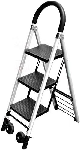 diseño único DQMSB Escalera de aleación aleación aleación de Aluminio, Taburete Plegable para Adultos, Escalera doméstica para Exteriores Taburete (Tamaño   3 Steps)  en stock