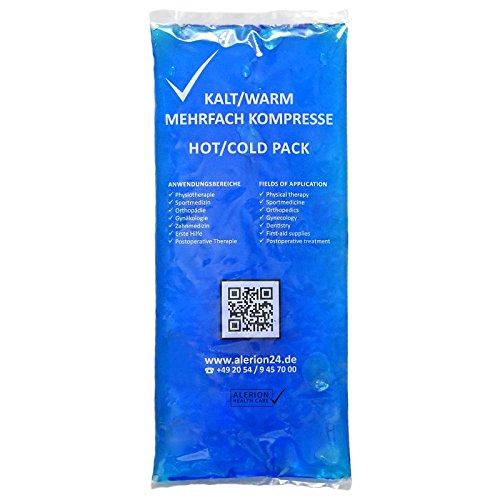 Alerion® 25 Stück 12 cm x 29 cm Kalt-Warm-Kompresse Mehrfach Kompresse Wiederverwendbar Coolpack Mikrowellen geeignet
