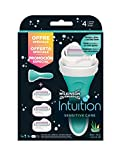 Wilkinson Sword pack intuition sensitivecare - maquinilla depilatoria y enjabonadora femenina intuition + 3 cuchillas autoadaptables