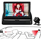 """BAOHZ 4.3""""baby car monitor baby car mirror, car seat mirror with night vision, safety monitoring baby car seat, wide field of vision, easy to observe the movement of the baby"""