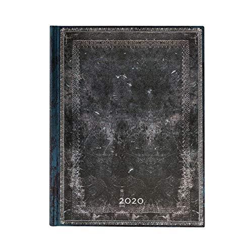 Paperblanks 12-Monatskalender 2020 | Mitternachtsstahl |Tagesüberblick | Ultra (230 x 180 mm)