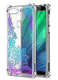 Oihxse Cristal Compatible con Samsung Galaxy J730/J7 Pro Funda Transparente TPU Silicona Estuche Airbag Esquinas Anti-Choque Anti Rasguños Diseño Rosa Flower Caso (Flores B8)