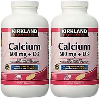 2 Pack Kirkland Signature Calcium 600 mg + D3, 500 Tablets Each