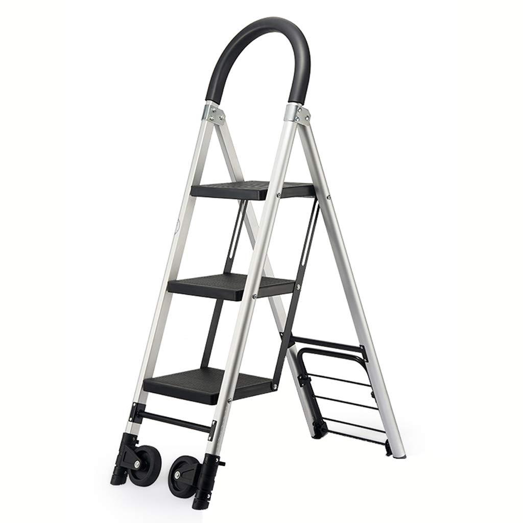 KJZ Escalera de transporte, almacén de hogar Escalera metálica Escalera de polea de tres pasos Escalera de cuatro pasos plegable (Tamaño : 36 * 76 * 120CM): Amazon.es: Bricolaje y herramientas
