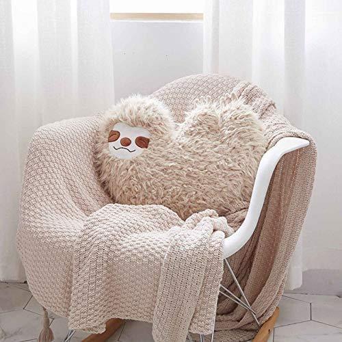 Almohada de los cabritos rellena, suave almohada animal peludo peluche juguetes regalos para la decoración del sofá del hogar de los niños