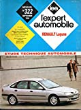 REVUE TECHNIQUE L'EXPERT AUTOMOBILE N° 322 RENAULT LAGUNA ESSENCE 1.8 / 2.0 / V6