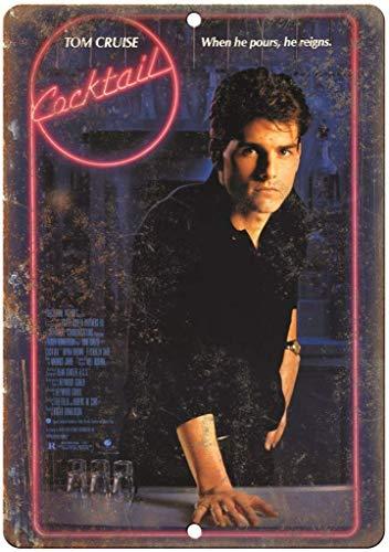 Cocktail Tom Cruise Film Plaque Murale rétro en Fer pour Peinture Plaque métallique Vintage Personnalisé Art Créativité Décoration Artisanat pour Café, Bar Garage Maison