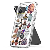 Phone Case Cover Dwayne Pc Johnson TPU Waterproof Clear Funny Compatible for iPhone 6 6s 7 8 X Xs Xr 11 12 Se 2020 Pro Max Plus