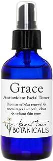Grace 有机*面部爽肤水,富含芦荟、蔓越莓和白茶 - 加速*更新,光滑透明皮肤 Grace Antioxidant Toner 4.5盎司