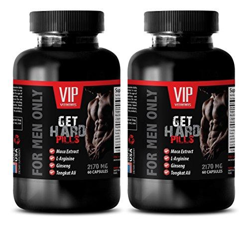 Male Enhancing Pills Erection Best Seller - GET Hard Pills - for Men ONLY - L-arginine libido - 2 Bottles 120 Capsules