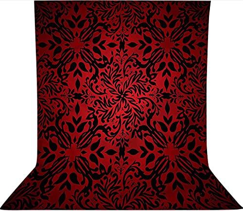 Fondo de telón de fondo de 1,2 x 1,8 m, diseño de hojas de flores orientales, telón de fondo de tela de microfibra, pantalla plegable de alta densidad para fotografía de vídeo y televisión