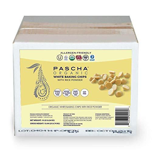 Pascha Organic Vegan White Chocolate Baking Chips, Bulk