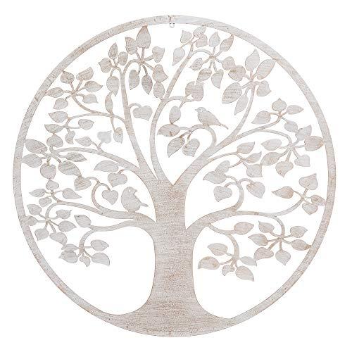 Mural árbol de la Vida exótico en óxido Beige