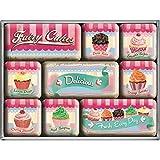 Nostalgic-Art Juego de Imanes Retro Fairy Cakes – Delicious – Idea de Regalo para la Cocina,...