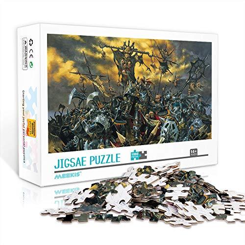 DUANGONGZI Puzzles imposibles 1000 Piezas Warhammer Jigsaw Puzzles Juego Desafiantes y educativos Puzzles Juegos Juguetes 75x50cm