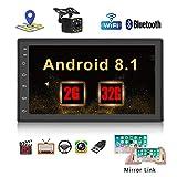 Radio Coche 2 DIN, Podofo 2G+32G Android Autoradio GPS Bluetooth con 7 Pulgadas HD Pantalla Táctil, Soporte Bluetooth Manos Libres/WiFi/Mirror Link/FM/USB/(Cámara de visión Trasera incluida)