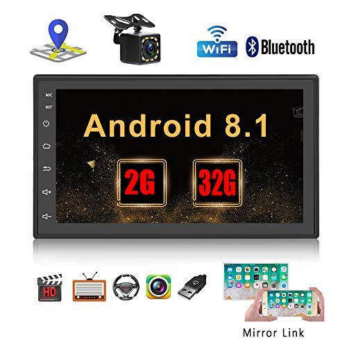 Podofo Autoradio 2 Din Android Stereo 7 pollici Touch Screen GPS Navigazione supporto Bluetooth WiFi Radio FM doppia USB Telecomando e fotocamera di backup