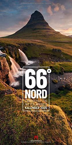 66 Grad Nord - Landschaften am Polarkreis 2020 - Wandkalender im Hochformat (33x66 cm) - Naturkalender Skandinavien (Norwegen, Schweden, Finnland, Island)