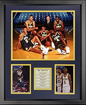 Legends Never Die Michigan Wolverines Fab Five Framed Photo Collage 16  x 20