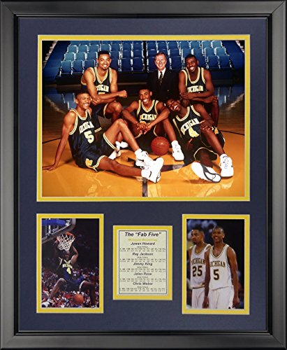 "Legends Never Die Michigan Wolverines Fab Five Framed Photo Collage, 16"" x 20"""
