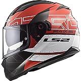 LS2 Casco moto STREAM EVO KUB Rosso Nero, Rosso/Nero, M