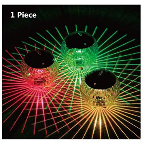 Solarbetriebene Schwimmbadleuchte schwimmendes Teichlicht Wasserdicht LED Farbwechsel Solar Garten Pool Licht Hängeleuchte Schwimmbecken (Farbwechsel)