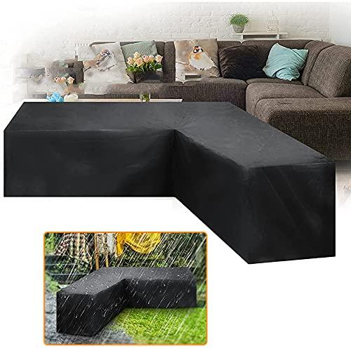 Tela para Jardín Terraza,600D Oxford Fundas para Sofá De Jardín En Forma De L,Funda Sofa Esquinero,Fundas para Muebles de Jardãnimpermeables,Fundas Protectora para Muebles