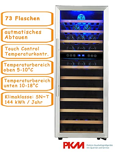 PKM Hausgeräte PKM Weinkühlschrank WKS72 B bk
