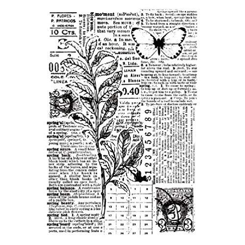 KunmniZ Sello Transparente de Silicona con Frases en inglés para álbum de Recortes Papel fotográfico en Relieve decoración artística para Manualidades