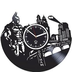 Kovides DC Comics, Gotham City, Batman Vinyl Wall Clock, Best Gift for Boyfriend, Vinyl Record, for Boy, Movie, Batman Birthday Gift, Wall Clock Vintage, Arkham Knight