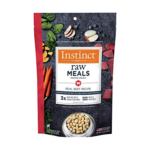 Instinct Freeze Dried Raw Meals Grain Free Real Beef Recipe Dog Food by Nature's Variety, 9.5 oz. Bag