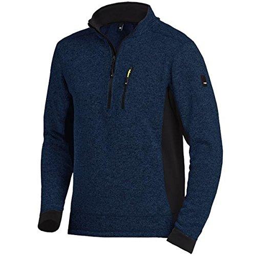 FHB 79597-1620-2XL Strick-Fleece-Troyer Patrick Größe 2XL in marine blau-schwarz