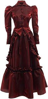 GRACEART Women's Steampunk Costume Dickens Gothic Victorian Dress Vampire Ball Gown