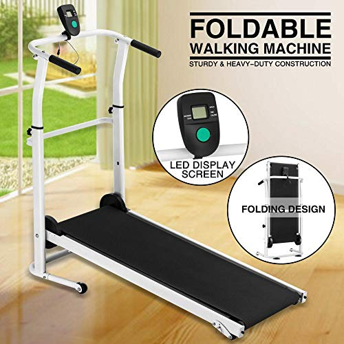 Check Out This Isaa Miilne Manual Treadmill Folding Portable Running Gym Fitness Walking Machine