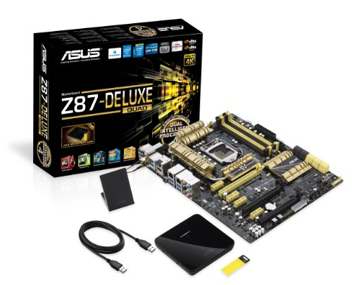 Asus Z87-Deluxe/Quad Mainboard Sockel 1150 (ATX, Intel Z87 (C2), DDR3 Speicher, SATA III)