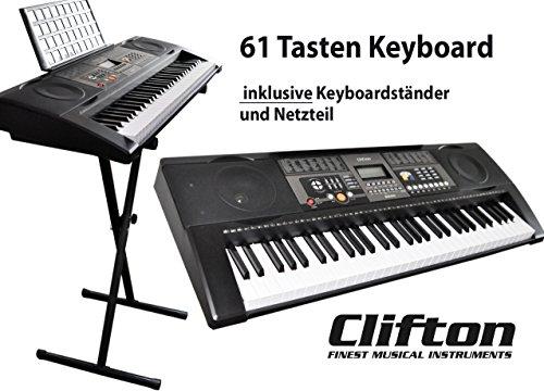 Keyboard 61 Tasten mit Keyboard Ständer