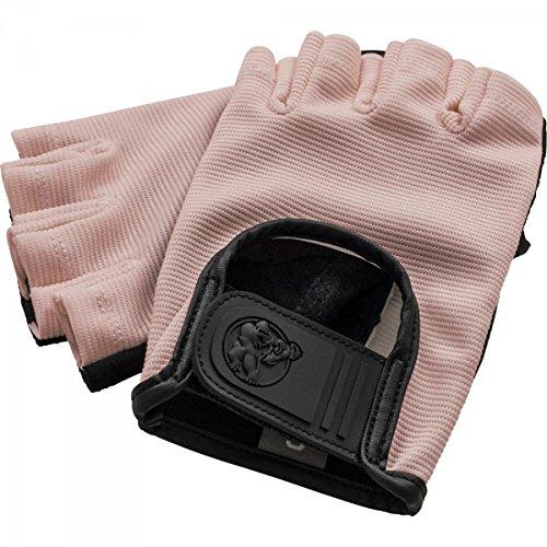 GORILLA SPORTS® Fitness-Handschuhe Leder mit Klettverschluss – 2er-Set Größenvarianten (S, Rosa)