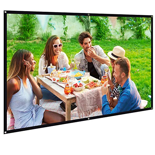 Bomaker 100 inch Projection Screen 16:9 HD Foldable Anti-Crease Portable Washable Projector Screen, Ideal for Home Theater Outdoor Indoor