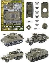E-Z Build Classic Armour Tanks, Four Pack Assortment