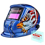 Flexzion Welding Helmet Auto Darkening Mask Hood (Thunder Skull), Solar Powered Shield Equipment...