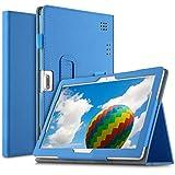 ELTD Coque Housse pour Dragon Touch K10/SANNUO 10.1/YOTOPT 4G 10/Winnovo T10/LNMBBS 10/BEISTA 10.1/TOSCIDO 10/Skyiol 10/NAQU 10/TOSCIDO 10/TENO 10/Voukou 10,(Azul)