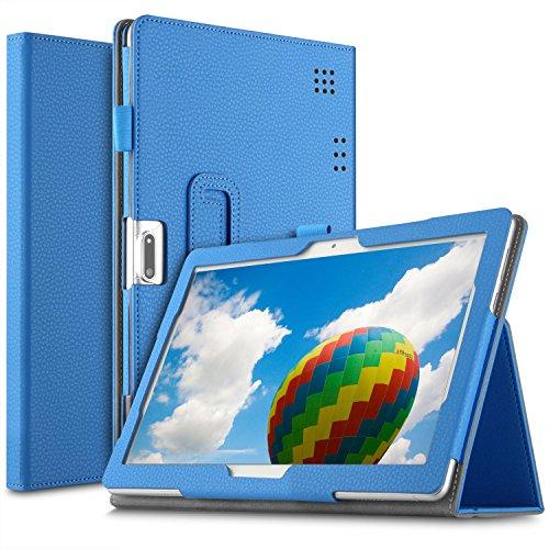 ELTD Hülle für Dragon Touch K10,Yuntab 3G 10.1/K107,TYD 10,ACEPAD A121/A140/A101,Artizlee ATL-31/21T,Winsing,Winnovo T10,Beneve 10.1,FiGE 10,TOSCIDO,HOPLAZA,Lnmbbs 10,1 Zoll (Blau)