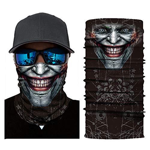 Walmeck- Máscara robótica de la Bufanda Joker Diadema Balaclavas para Ciclismo Pesca Motocicleta esquí AC335