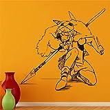 Pegatinas de pared Anime Tatuajes de pared Princesa Mononoke Home Art Decor Murales de vinilo extraíbles 40 x 40 cm